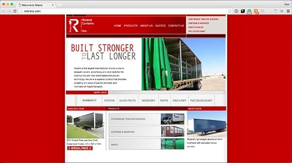 Roland Curtains Pre-Brandwise Website Design